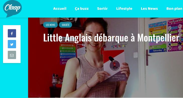 Claap.fr parle de Little Anglais Montpellier